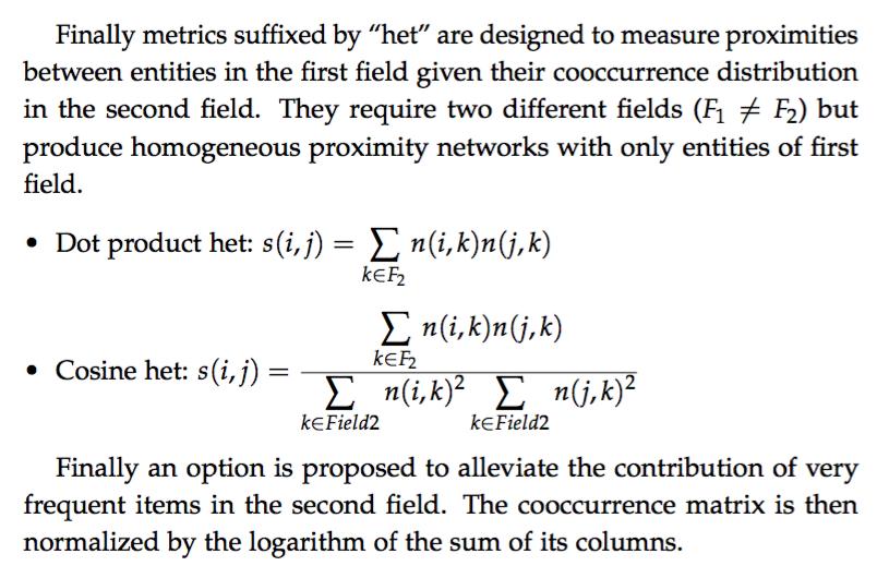 Edges: metrics definitions